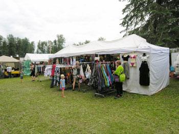 market tent at music festival