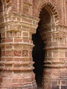 detail of terracotta temple decoration