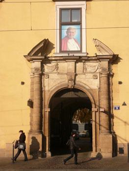 Pope John Paul's residence