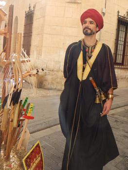 man in medieval wardrobe