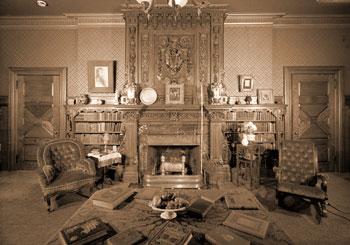 Mark Twain house first floor library