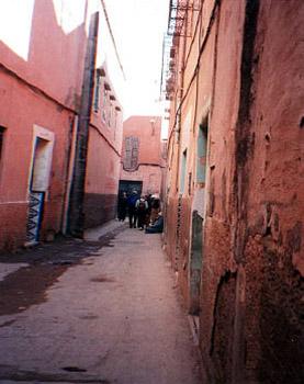 narrow passageway in European quarter of Marrakech
