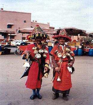 men wearing traditional Moroccan wardrobe
