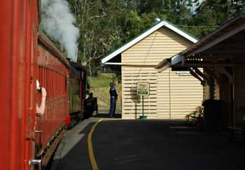 train at Gympie station