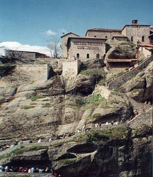 monastery built on cliff
