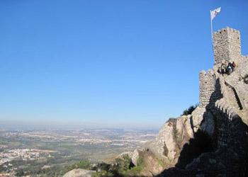 looking up at the Moorish Castle