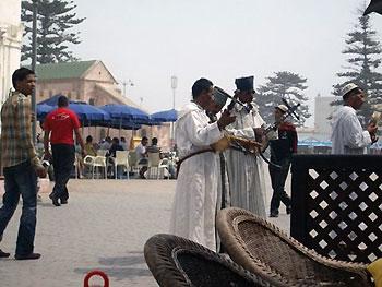 Imdezan - a group of Berber street musicians