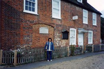 the author Darlene Foster at Jane Austen's cottage