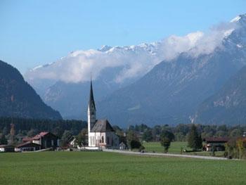 church in Austrian countryside