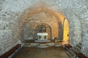 altar in lower church