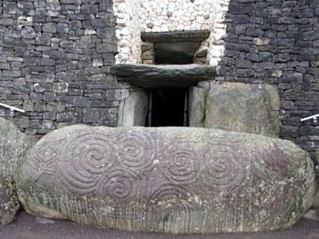 kerbstone in front of entrance to Newgrange