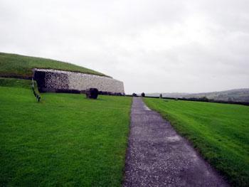 Walkway leading to Newgrange passage tomb