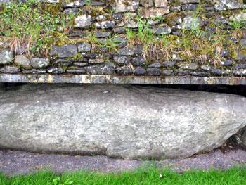 detail view of Newgrange stones