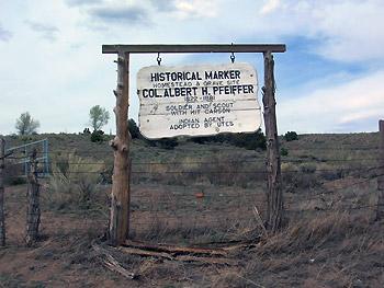 Pfeiffer homestead marker