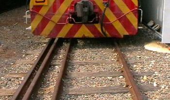 railroad tracks close-up
