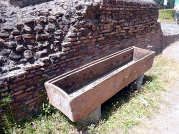 Roman watering trough for horses