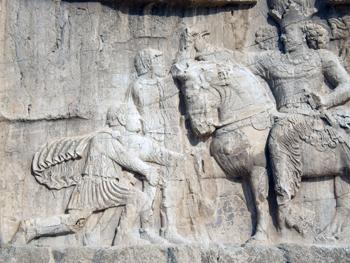 carving king Shapur I