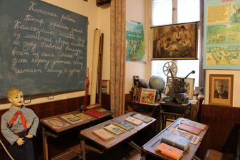 Communist school display in museum
