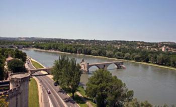Avignon bridge distant view