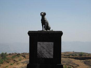 memorial to dog Waghya