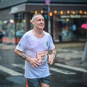 The author, Mark Latham, running