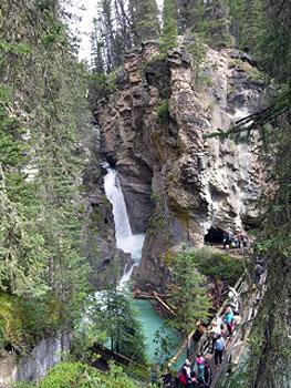 Johnston Canyon waterfall