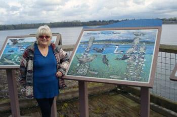 The author, Ruth Kozak, overlooking the ocean