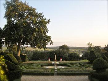 fountain in Danesfield House garden