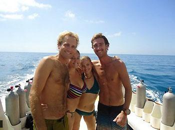 Tina Doran, Caroline Goransson and two friends