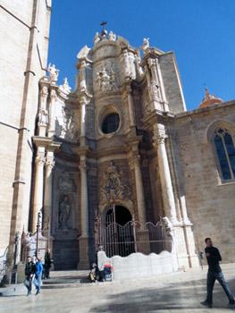 Valencia cathedral main portal