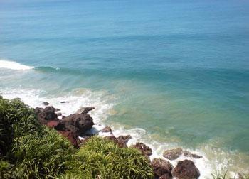 waves at shoreline