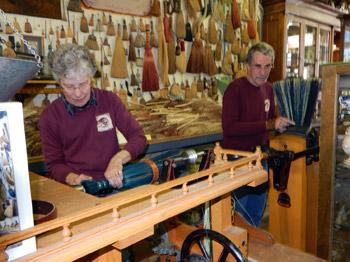 The Morrisons making a broom
