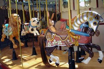 carousel at Butchart Gardens