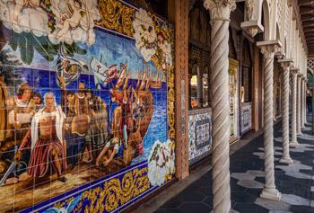 Ceramic tile mural outside El Centro