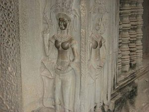 bas relief carvings inside complex