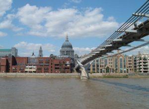 Millennium Bridge across the Thames