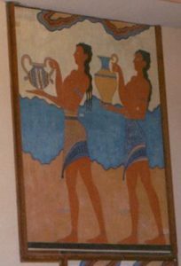 human images in Minoan frescoes