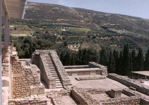 view from Knossos palace grounds