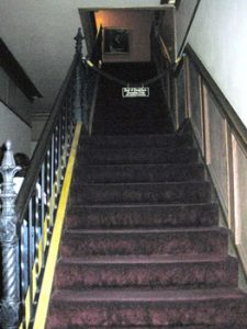 stairs in Lemp Mansion lead to attic