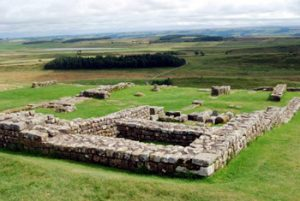 remains of Roman buildings near Hadrian's wall