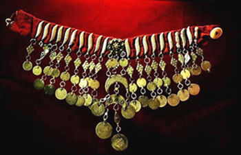 traditional Bedouin gold necklace