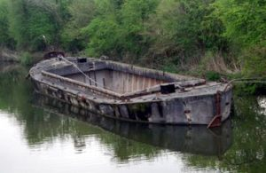 remains of old boat