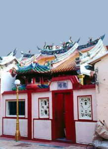 building in Malacca's Chinatown