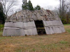 bark oval house