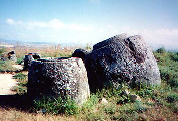 megalithic stone jars in Xiengkhuang