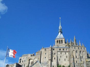 abbey at top of Mont-Saint-Michel