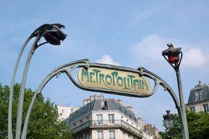 art nouveau Paris Metro sign