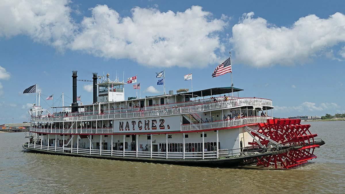 Steamboat Natchez on the Mississippi
