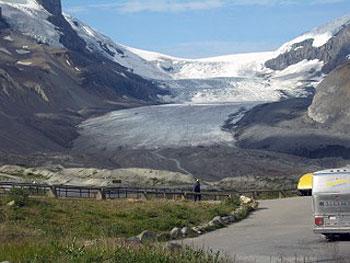 glacier in Canadian Rockies