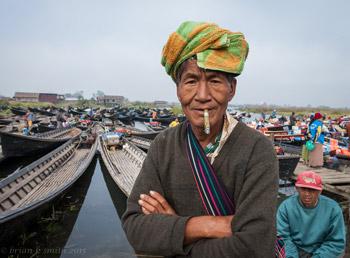 Captain of boat at Palaung market
